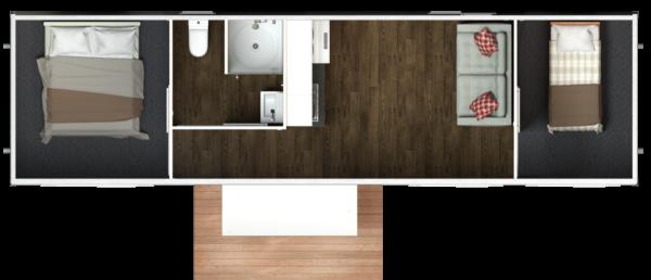10.4 Two Bedroom – Centralised Bathroom (Option 2)