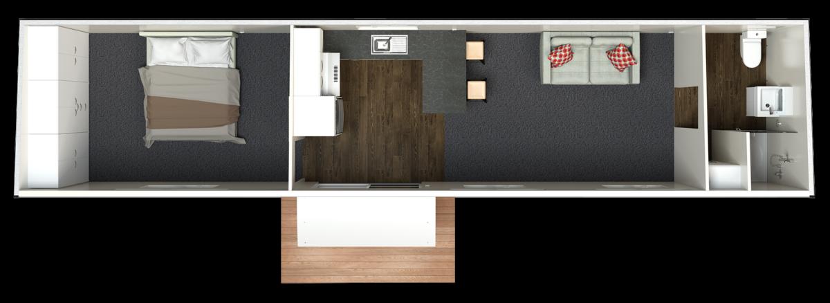 12 5m Deluxe plan End Bathroom