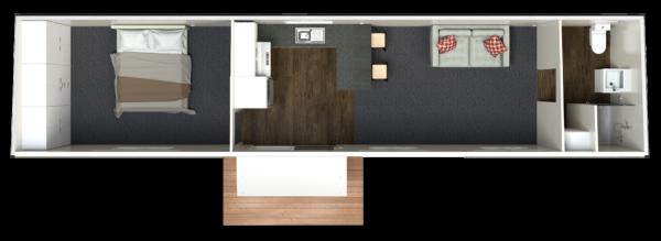 12.5 One Bedroom Deluxe - End Bathroom (Option 1)