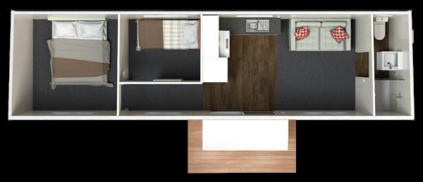 10.4 Two Bedroom – End Bathroom (Option 1)
