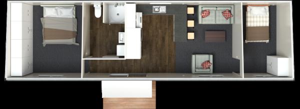 12.5 Two Bedroom Deluxe   EXTRA WIDE