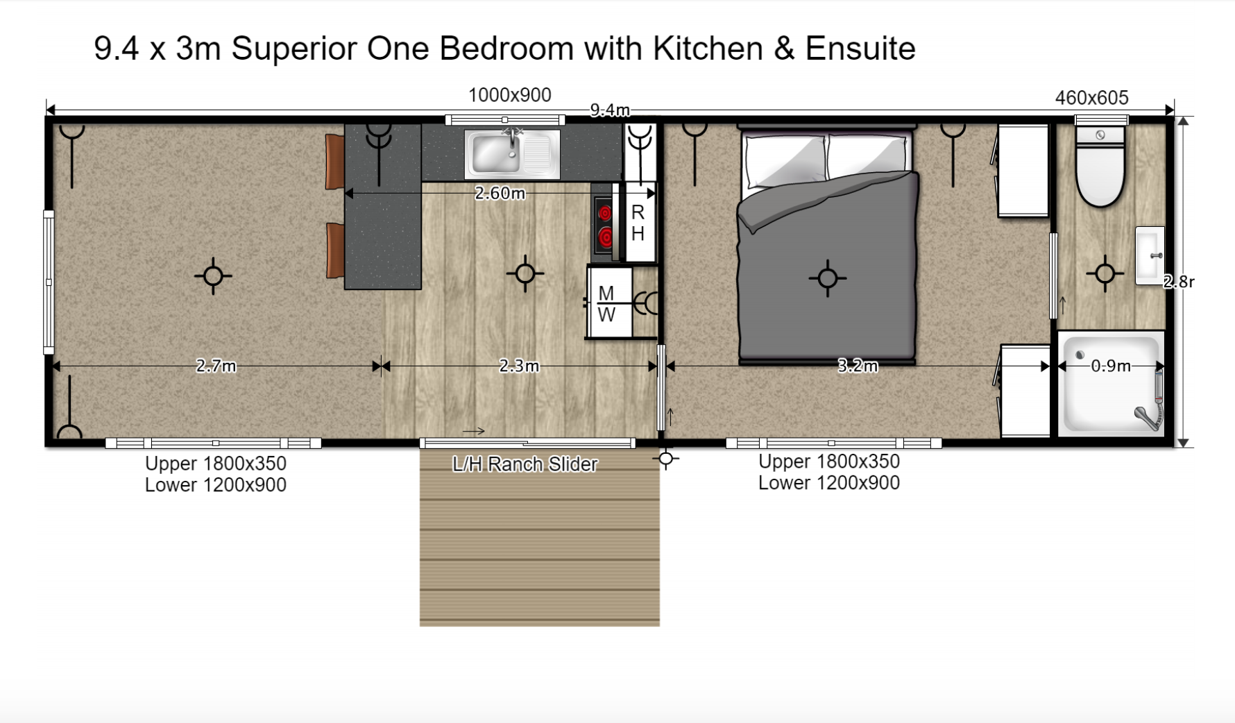 Superior one bedroom tiny home