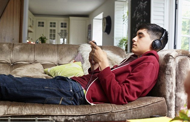 Teenager on couch-1